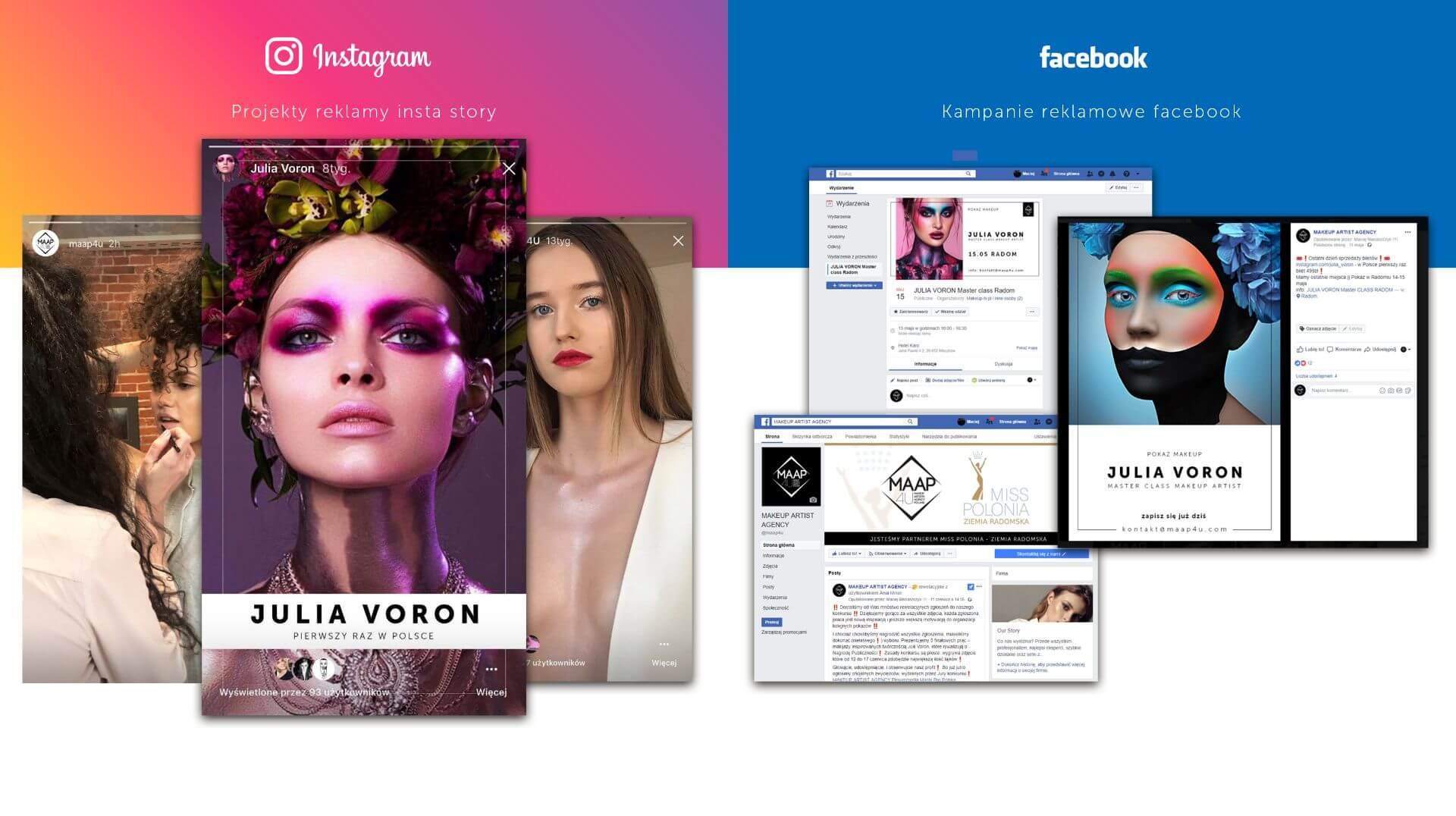 Media społecznościowe (fanpage - facebook, instagram)