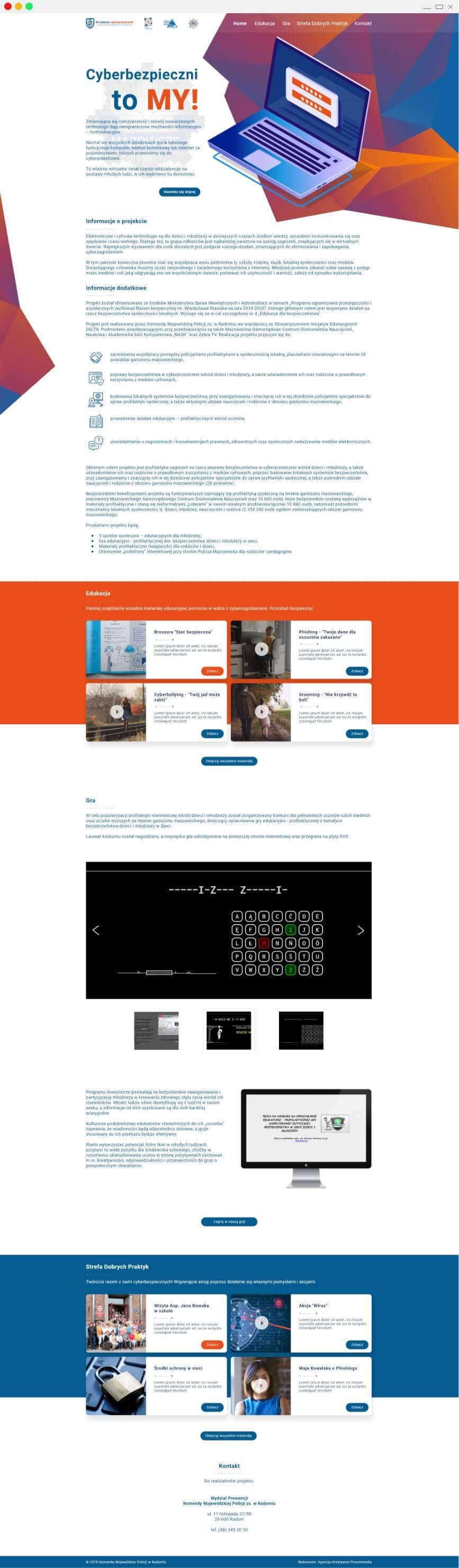 projekt strony cyberbezpieczni